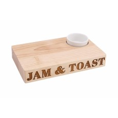 Wooden Toast Board with Bowl