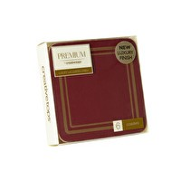 Classic Premium Coasters Red Pack 6