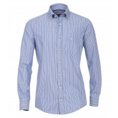 Casamoda Dobby Stripe Shirt Blue