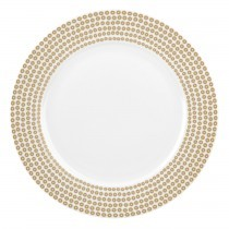 Catherine Lansfield Dinner Plate Sequin Gold