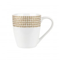 Catherine Lansfield Barrel Mug Sequin Gold
