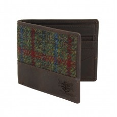 HARRIS TWEED GREEN WALLET