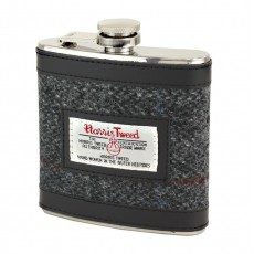 Berneray Harris Tweed Hip Flask