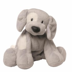 Spunky Dog Plush Grey