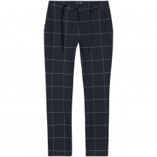Gant O2. Check Stretch Pants Evening Blue