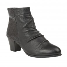Lotus Punata Boot Black Print Leather
