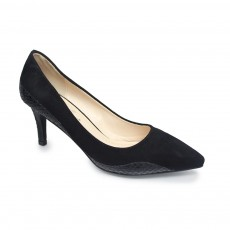 Lunar Holly Black Low Heel Court