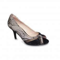 Lunar Ebony Nude/Black Evening Shoe