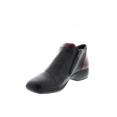 Rieker Boot Black/Bordeaux