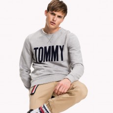 Tommy Hilfiger Denim Logo Crew Neck Knit