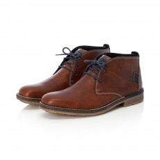 Rieker Brown and Navy Boot