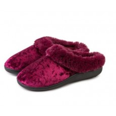 Totes Crushed Velour Mule Slipper