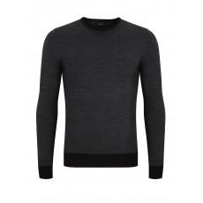 Remus Uomo L/S  Crew Nk Sweater Charcoal