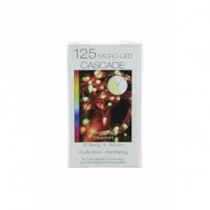 Christmas Lights 125 Micro T-LED Cascade Multi Coloured