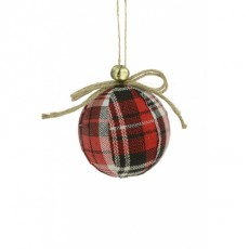 Tartan Bauble-Bell Multi Coloured 8cm