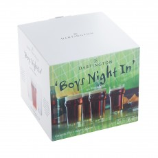 Dartington Boy's Night In Pint Glass Set 4