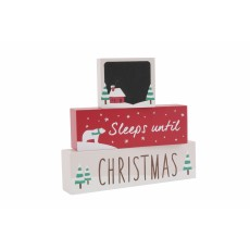 Sleeps Until Christmas Chalkboard Block