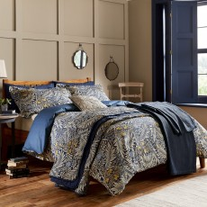 Bedeck Morris & Co Larkspur Bedding Indigo