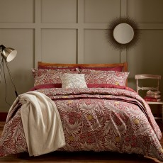 Bedeck Morris & Co Larkspur Bedding Red