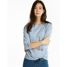 Joules Harbour 3/4 length Sleeve Jersey Striped Top