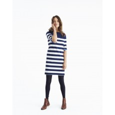 Joules Mari Jersey Striped Dress Navy