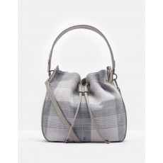 Joules Beaut Tweed Shoulder Bag  Grey Check