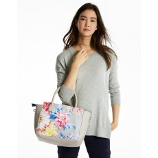 Joules Daytoday Printed Everyday Bag Grey White