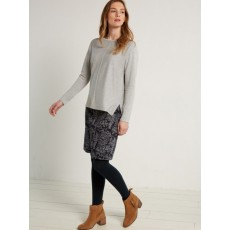 White Stuff Lexi Jacquard Skirt Grey