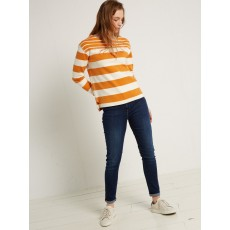 White Stripe Jersey Tee Honey Dew