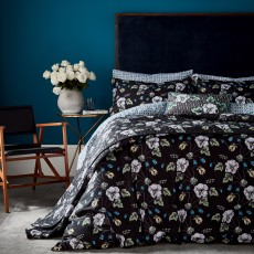 Bedeck V&A Gardenia Bedding Black