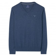 Gant Lightweight Cotton V-Neck Sweater