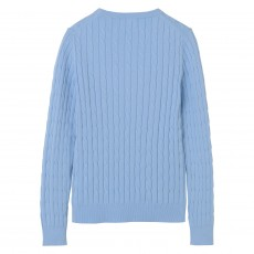 Gant Stretch Cotton Cable Crew Sweater