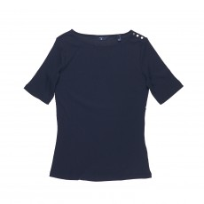 Gant Ribbed Boatneck Top