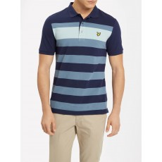 Lyle & Scott Textured Stripe Polo Shirt