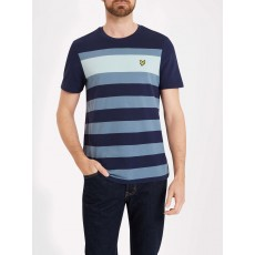 Lyle & Scott Textured Stripe T-shirt Navy