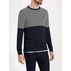 Lyle & Scott Half Breton Jumper Dark Navy