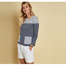 Barbour Monreith Top   White/Navy