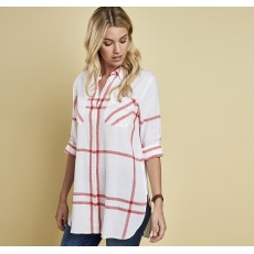 Barbour Bamburgh Shirt White/Signal Orange