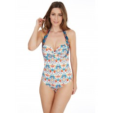 Lepel Paradise Halter Suit Cream/Navy