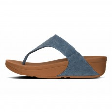 LULU TOE-THONG SANDALS - SHIMMER-DENIM
