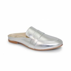 Swift Silver Backless Loafer