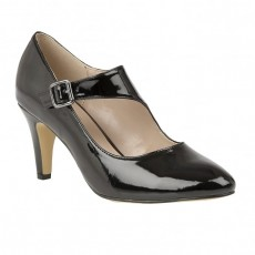 Lotus Laurana Black Shiny Shoe
