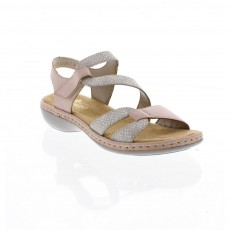 Rieker Mussurana White and Pink Sandal
