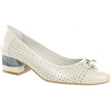 Capollini Rianne Pale Grey Punched Ballerina