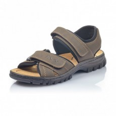 Rieker Bastia Scuba Dark Brown/Black Sandals