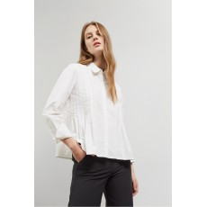 Great Plains Simone Pleasted L/Sleeve Shirt White