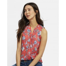 Joules Zinnia Sleeveless Pop Over Top RDINDFL