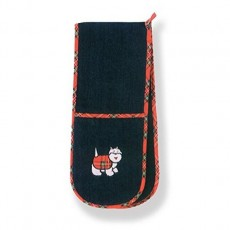 Tartan Terrier Double Oven Glove