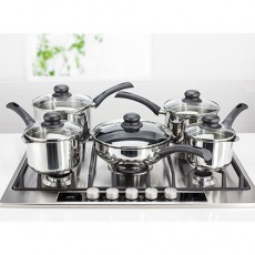 Judge Vista Draining 5pc Saucepan Set