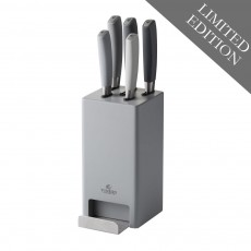 Viners Media Mono Grey 5pc Knife Block